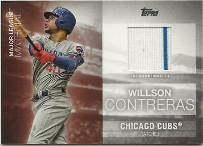 2020 Topps Series 1 WILLSON CONTRERAS Major League Material Relic Cubs Jersey rt