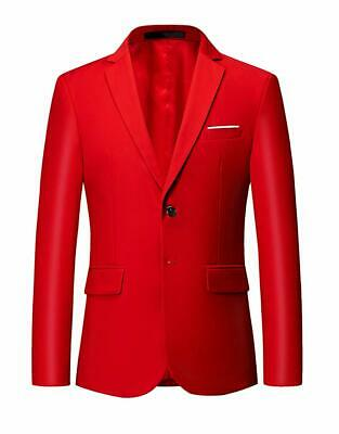 MOGU Mens Suit Jacket Slim Fit Single Breasted Two Button 10 Colors