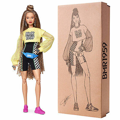 Barbie BMR1959 Fashion Doll with Braided Hair, Cropped Shirt and Shorts (GHT91)