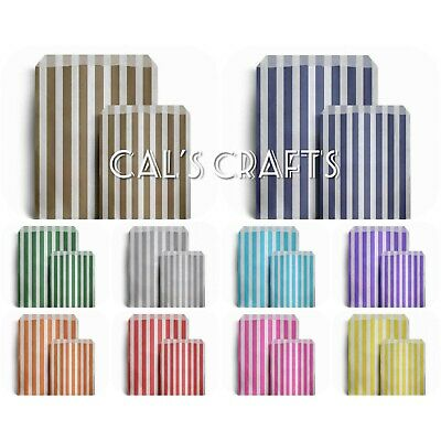 Candy STRIPE Paper Bags Sweet Favour Gift  Shop Party Weddings Birthday