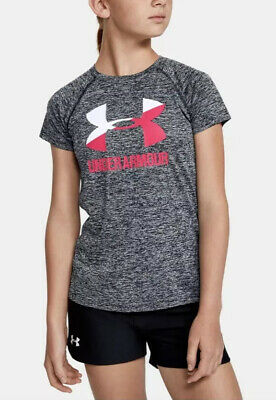 UNDER ARMOUR Girls Short Sleeve Shirt Youth Small RETAIL$20 WORN ONCE