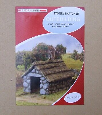 Renedra / Perry - STONE THATCHED BUILDING - 28mm Wargaming Dark Age