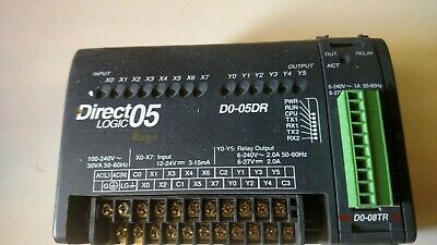 Koyo Direct Logic DO-05DR Used PLC Processor with a DO-08TR Relay Module added