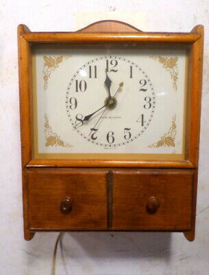 Interesting General Electric Den Or Kitchen Wall Clock With 2 Drawers