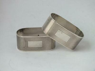 Smart Matching Pair of Sterling Silver Napkin Rings 1979 & 1980/ H 1.9 cm/ 34 g