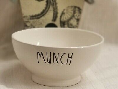 """RAE DUNN By Magenta """"Munch"""" Footed Ice Cream, Cereal, Soup Bowl"""