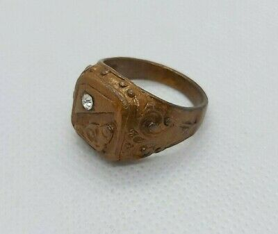 Rare Ancient vintage bronze ring viking artifact authentic very stunning