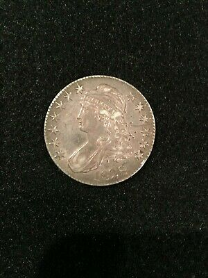 1828 Capped Bust Half Dollar Curl Base 2 No Knob XF Details