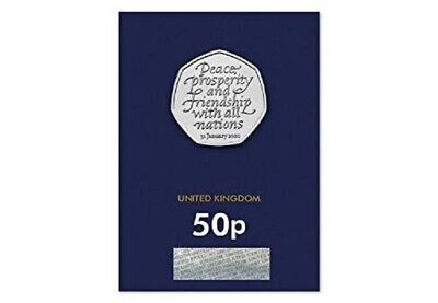 2020 Uk Brexit 50P Fifty Pence Uncirculated Coin Certified - Official Uk Issue