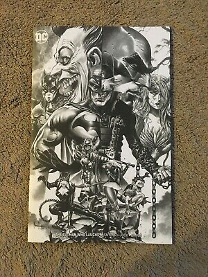 Batman Who Laughs #6 Exclusive Mico Suayan B/W Sketch Remark Edition Variant NM