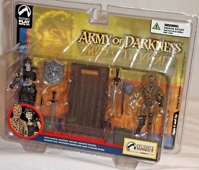 Palisades Army of Darkness Deadite soldat Exclusive Rolling Wooden Barricade!
