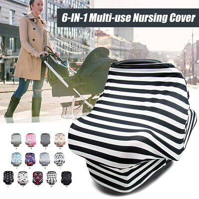 Multi-Use Stretchy Stroller Car Seat Cart Cover Nursing Scarf Breastfeeding US