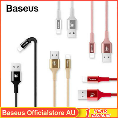 Baseus Lightning Cable Charging Data Cord Charger for iPhone 7 8 Plus XR XS Max