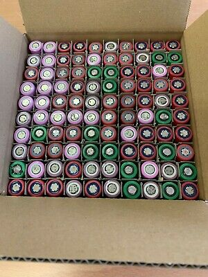 lots 100x tested 18650 battery, lithium ion cells for diy powerwall 1400-1599mAh