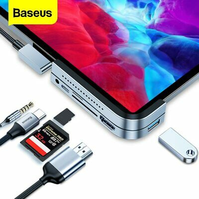 Baseus USB-C 3.0 to Type-C 3x USB 3.0 HUB HDMI RJ45 Ethernet Adapter for Macbook