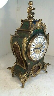Antique French Striking Boulle Mantel Clock