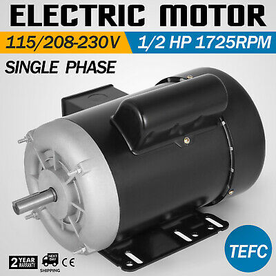 Electric Motor 5 HP 3 Phase 1750 RPM 1.125/'/'  184T frame Keyed shaft Waterproof
