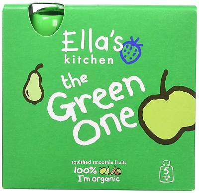 Ella's Kitchen Smoothie Fruit - The Green One Multipack (5 x 90g) (Pack of 6)