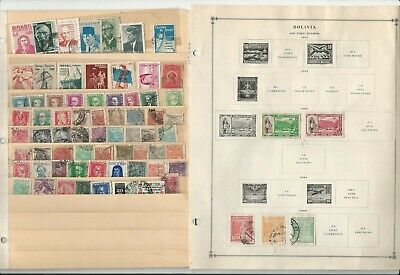 Bolivia & Brazil Stamp Collection 60 Scott International Pages, To 1984