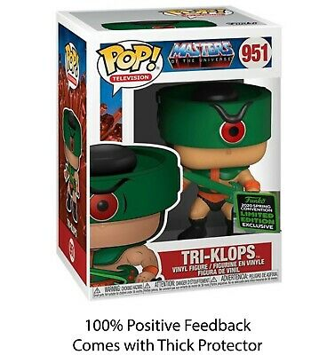 Funko Pop TRI-KLOPS MOTU ECCC *SHARED* spring  EXCLUSIVE + 0.5mm Protector