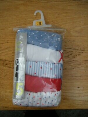 M&S Pure Cotton Full Briefs ~ Knickers ~ 5 Pack ~ Size 24