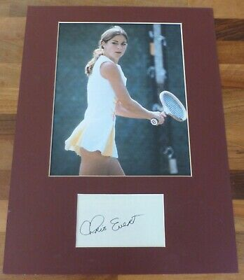 CHRIS EVERT-A Hand Signed Card,Presented With A Photo-Mounted & Matted,COA