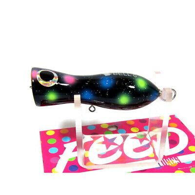 Feed Lures Pin 100 Hand Made Wood Popper Floating Lure 100 grams 43-0043