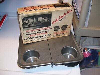Original 1940' s Vintage Rat Hot rod Auto trays car hop nos old gas oil original