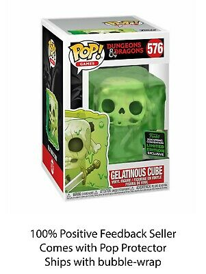 Funko Pop Dungeons & Dragons Gelatinous Cube Spring Exclusive + 0.5mm Protector
