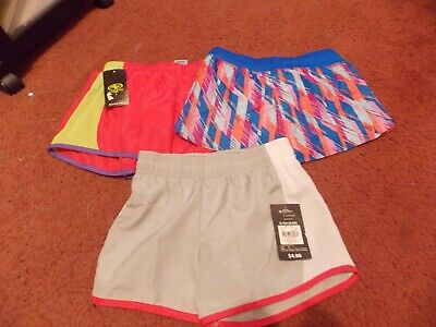 girls lot of 3 pairs athletic lined running shorts size 6/6x---nwt