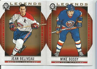 2019 OPC Coast to Coast Legends Lot of 2 Beliveau, Bossy Montreal Canadiens mint