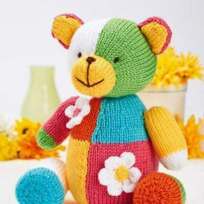 Teddy Bear Toy knitting pattern 38cm tall RARE