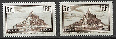 FRANCE # 260-260a-301 CHARNIERES - GOMME D ORIGINE - EXCELLENT ETAT 4 SCANS