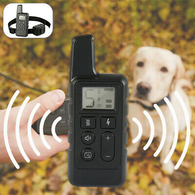 Dog Shock Collar With Remote Waterproof Electric  Yard Pet Training Waterproof
