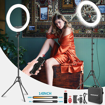 Neewer 14-inch LED Ring Light with Stand and 2.4G Wireless Remote