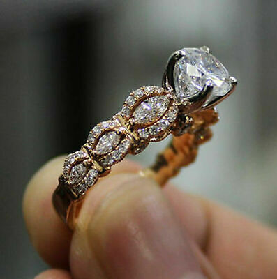 10k Rose Gold Finish 2.50ct Diamond Women's Engagement Wedding Ring