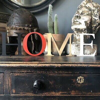 """5"""" Home Rustic Distressed Metal Letters Home Sign Lettering Classic Kitchen"""