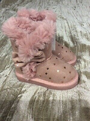 PRIMARK YOUNG DIMENSION FAUX SUEDE KIDS GIRLS WINTER BOOTS ASSORTED COLOURS