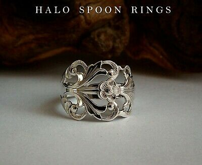 Norwegian Silver Viking Rose Spoon Ring The Perfect Mothers Day Gift Idea