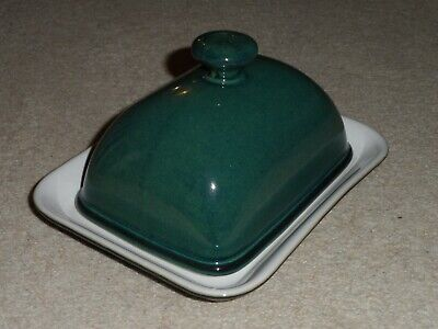 Denby Greenwich Green Butter Dish Complete With Lid And Base - Great Condition!
