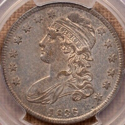 1836 O.116 50/00 Capped Bust half, PCGS AU55 CAC, SWEET!      DavidKahnRareCoins