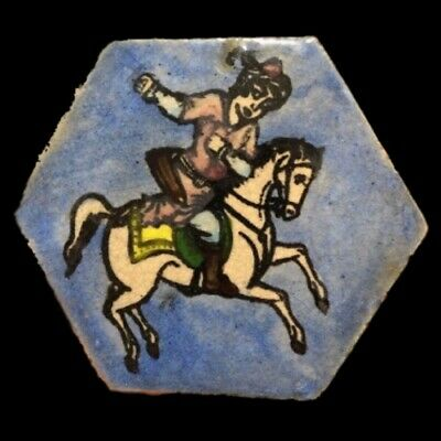 Rare Ancient Near Eastern Glazed Ceramic Tile 6Th Century A.d. (2)