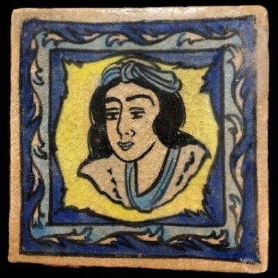 Rare Ancient Near Eastern Glazed Ceramic Tile 6Th Century A.d. (8)
