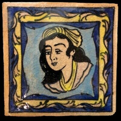 Rare Ancient Near Eastern Glazed Ceramic Tile 6Th Century A.d. (9)