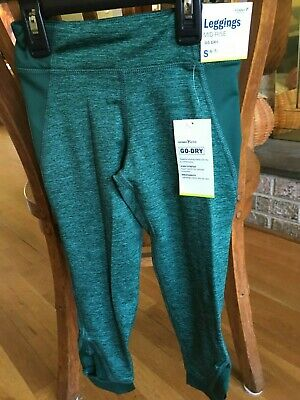 Girls Old Navy Active Mid Rise Legging Size Small Emerald green New with tags