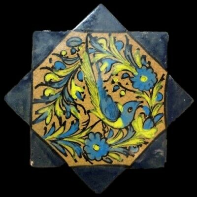 Rare Ancient Near Eastern Glazed Ceramic Tile 6Th Century A.d. (20)