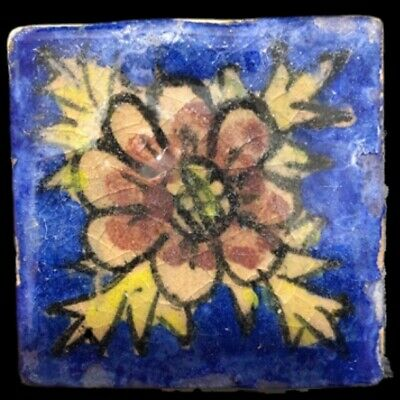 Rare Ancient Near Eastern Glazed Ceramic Tile 6Th Century A.d. (23)