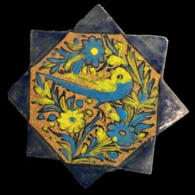 Rare Ancient Near Eastern Glazed Ceramic Tile 6Th Century A.d. (32)