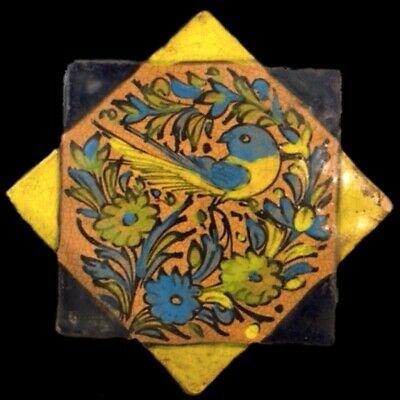 Rare Ancient Near Eastern Glazed Ceramic Tile 6Th Century A.d. (39)