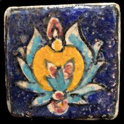 Rare Ancient Near Eastern Glazed Ceramic Tile 6Th Century A.d. (40)